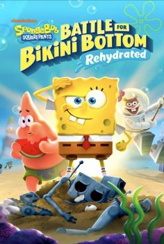 BOB ESPONJA SQUAREPANTS BATTLE FOR BIKINI BUTTON REHYDRATED