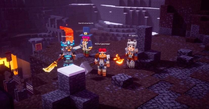 Personajes minecraft Dungeons