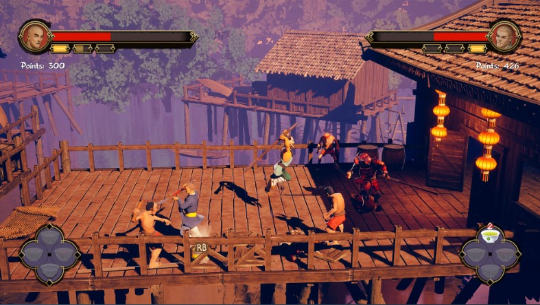 Gameplay  de 9 Monkeys of Shaolin PC