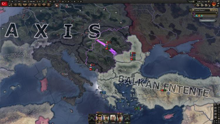 HOI IV Battle for the basporus gameplay PC