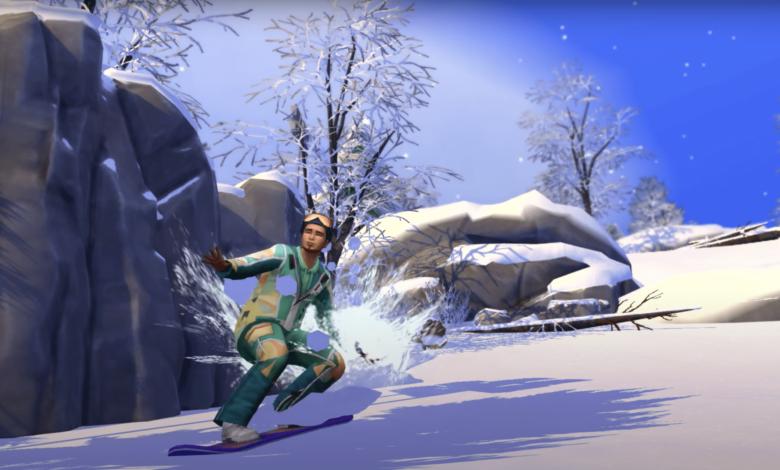 Gameplay de Los sims 4 Escapada en la Nieve