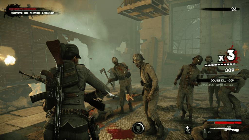 Gameplay de Zombie Army 4 Dead War PC
