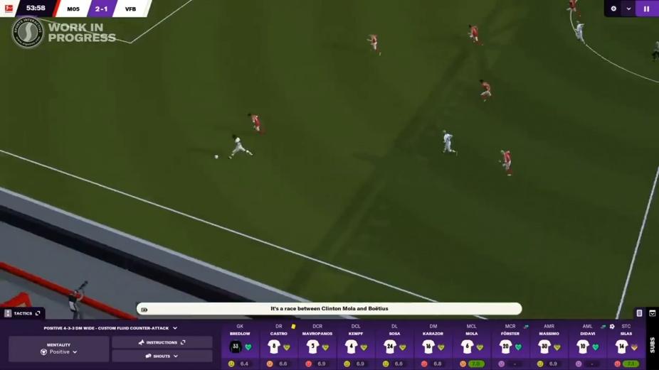 Gameplay de Football Manager 2021