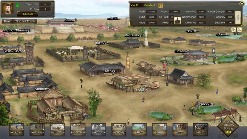 Gameplay de Three Kingdoms The Last Warlord PC