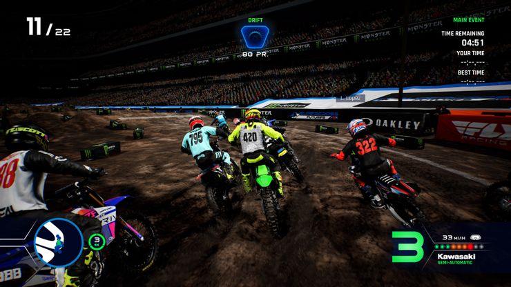 Gameplay de Monster energy supercross 4 pc