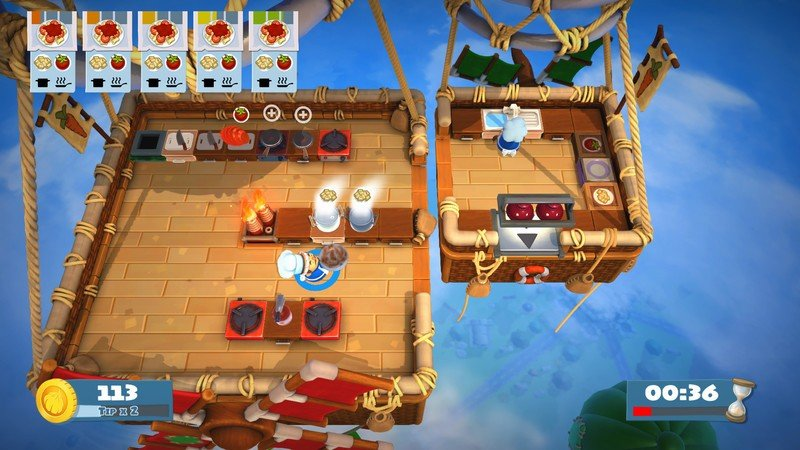 Gameplay de Overcooked 2 Online