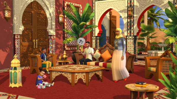 Gameplay de Los Sims 4 Courtyard Oasis Kit PC 2021