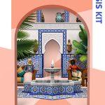 Cover de Los sims 4 kit oasis patio