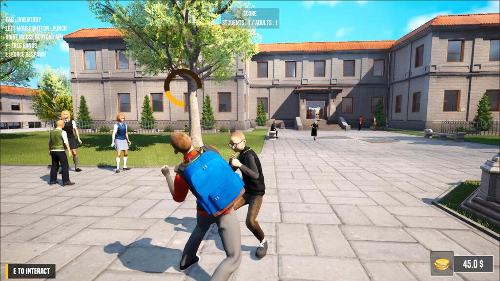 Gameplay de Bad Guys at School Online
