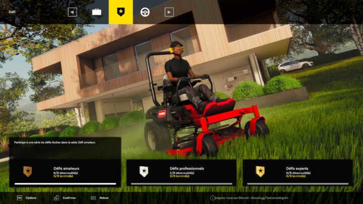 Gameplay de Lawn Mowing Simulator 2021
